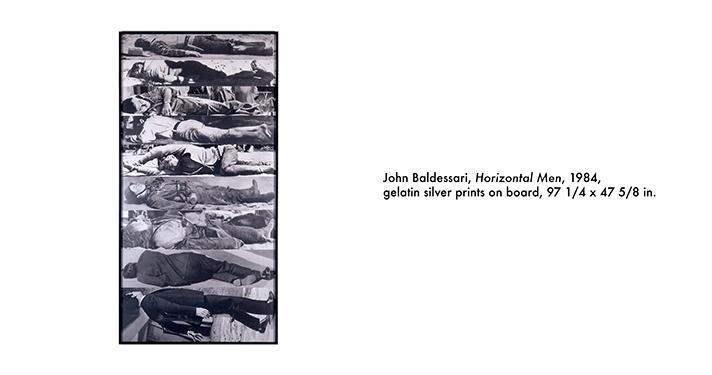 John Baldessari, Horizontal Men, 1984
